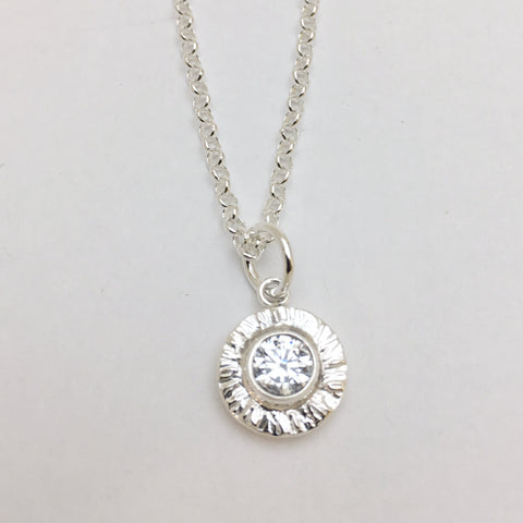 Sterling Silver Small Sundrop Necklace