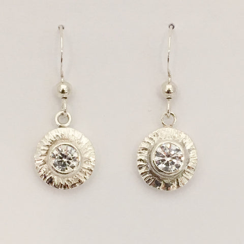 Sterling Silver Small Sun Drop Earrings