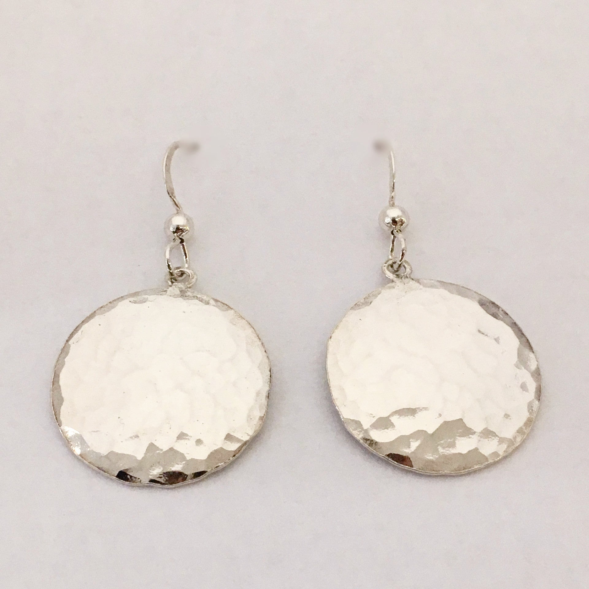 Sterling Silver Full Moon Earrings