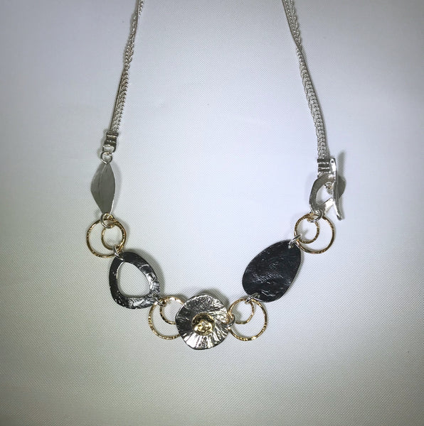 Sterling Silver Three Strand Necklace