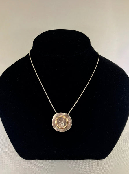 Sterling Silver Single Disc Necklace
