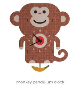 Modern Moose Clock - Monkey Pendulum