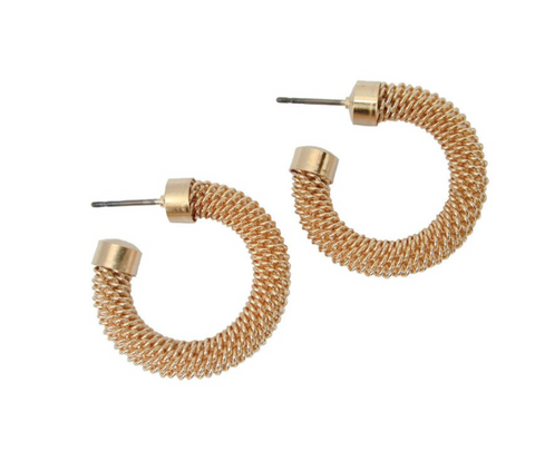 Erica Zap Mesh Hoop Earrings
