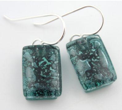 Glass Charm Turquoise Drop Earring