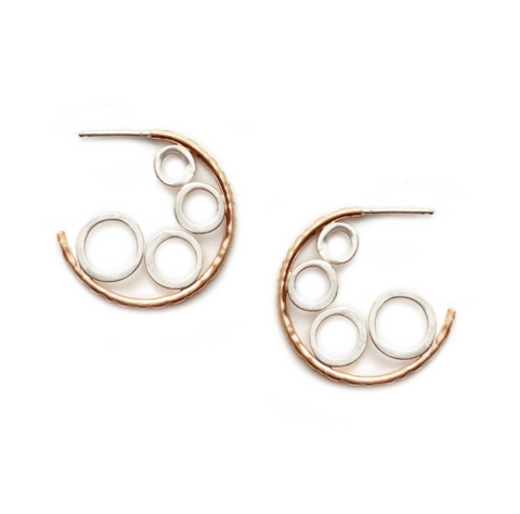 Sterling Silver & Gold-Filled Hoop Earrings