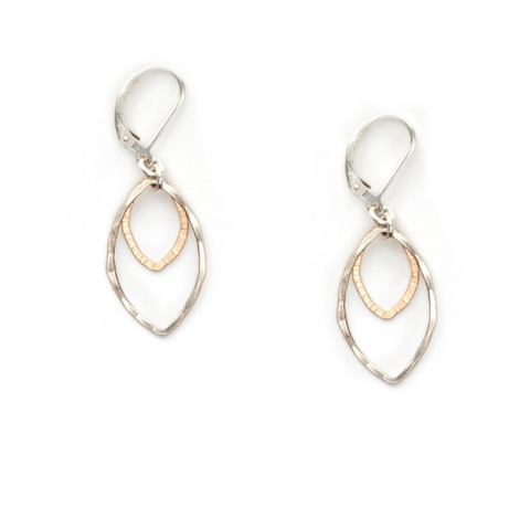 J+I Double Leaf Earrings
