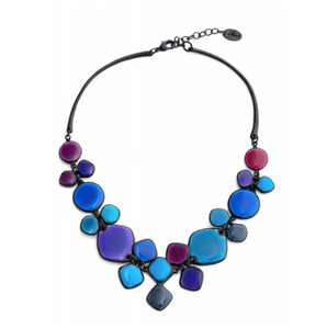 Thierry Joo Blue Enamel Necklace