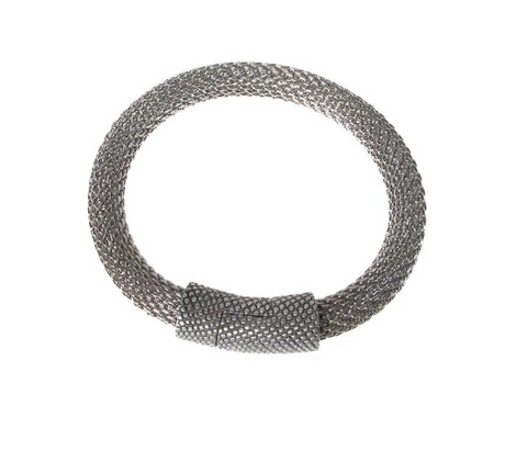 Mixed Metal Mesh Bracelet