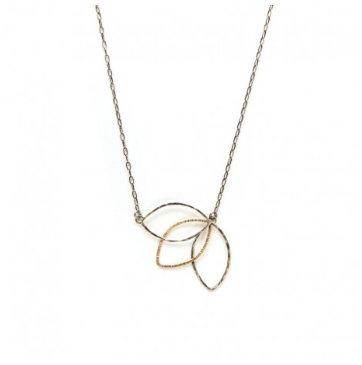 J+I Triple Leaf Necklace