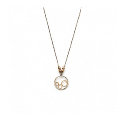 J+I Beads and Circles Necklace