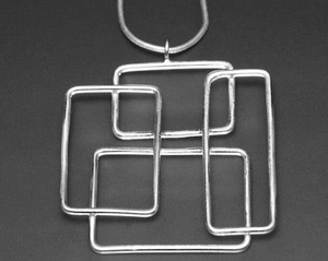 Sterling Silver Mondrion Necklace