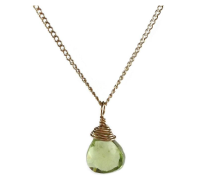 Gemstone Peridot Necklace