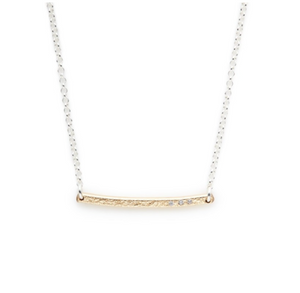 Sterling Silver & Gold-Filled Bar Necklace