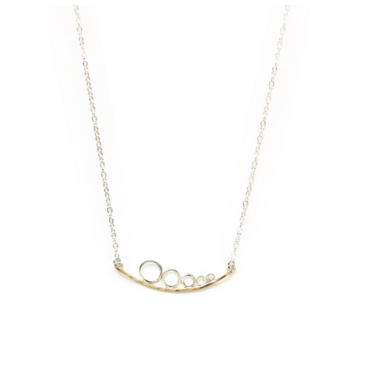 J+I Curved Circles Necklace