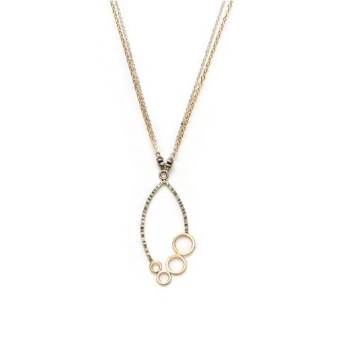 J+I Leaf Circle Necklace