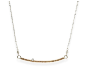 J+I Curved Bar Necklace