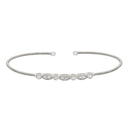 Sterling Silver Marquis Bracelet