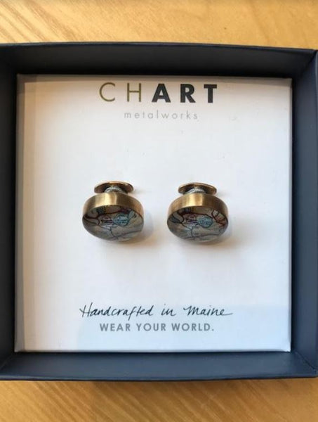 Chart Metalworks Boston College Cufflinks - Bronze