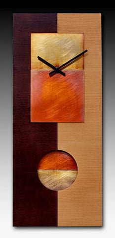 Cherry and Copper Wall Clock