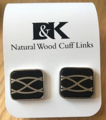 Natural Wood Cuff Links