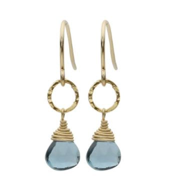 Gemstone London Blue Topaz Drop Earrings