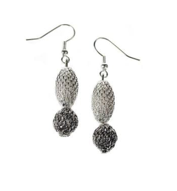 Mixed Metal Mesh Earrings