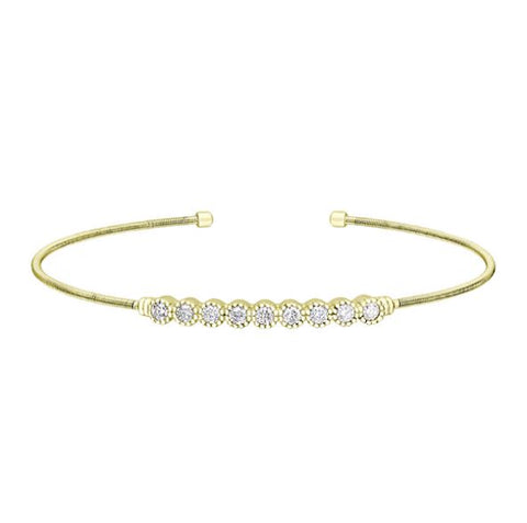 Gold Vermeil Beaded Bezel Bracelet