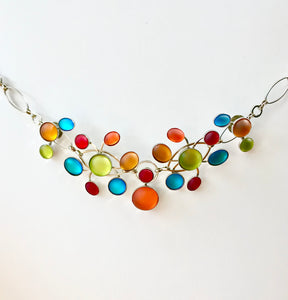 Glass Frost Necklace - Rainbow