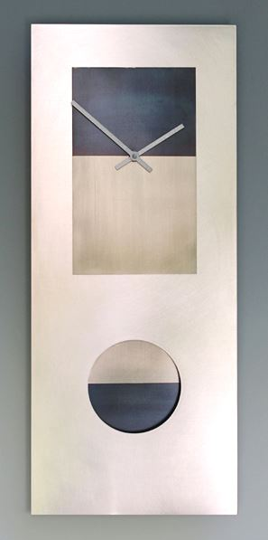 Steel and Nickel Wall Clock