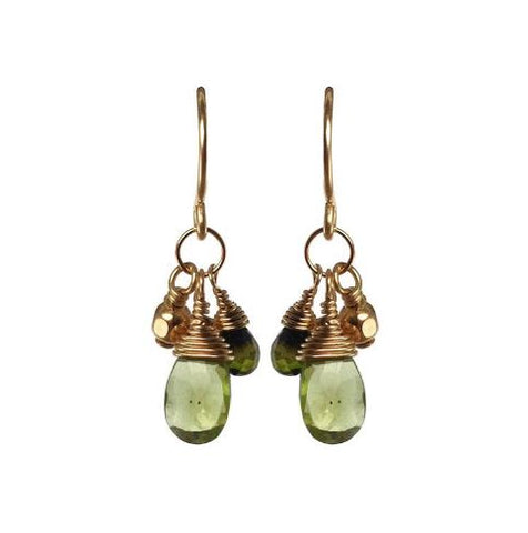 Peridot & Green Tourmaline Earrings
