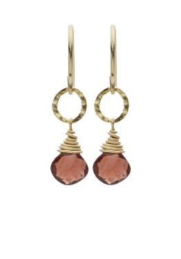 Gemstone Garnet Earrings