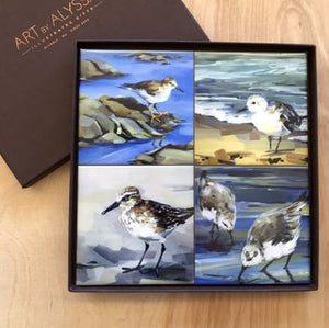 Art by Alyssa Coaster Gift Set - Shorebirds