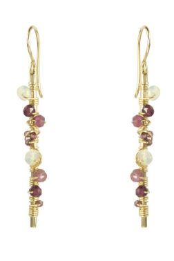Gemstone Bar Earrings