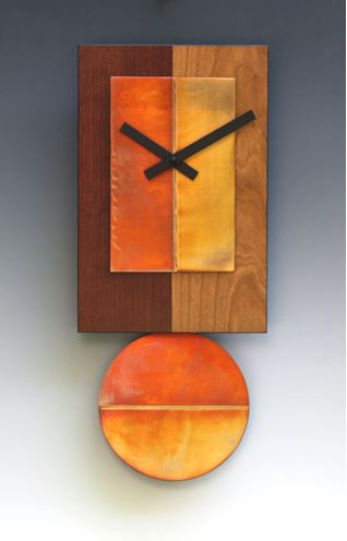 Two Tone Cherry Pendulum Clock