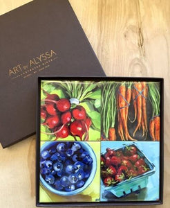 Art by Alyssa Coaster Gift Set - Farmers Market