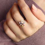 Anillo 'Galaxy' Freesia