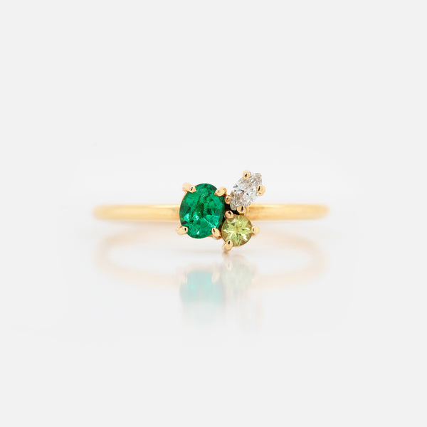 Anillo 'Galaxy' Emerald Green