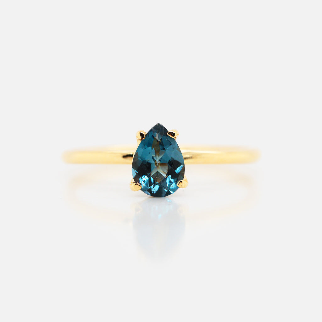 Anillo 'Valeria' Topacio London Blue Gota