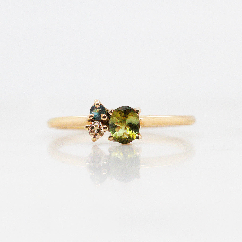 Anillo 'Galaxy' Deep Green