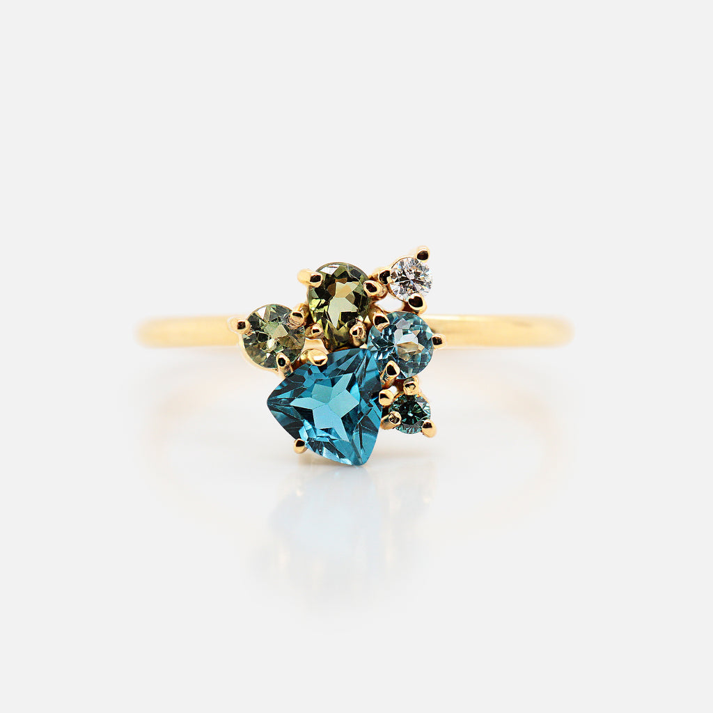 Anillo 'Galaxy' Ocean Blue