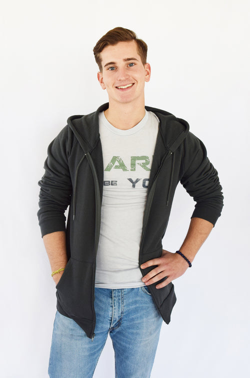"Organic Cotton ""Dare to be You"" Men's Hoodie"
