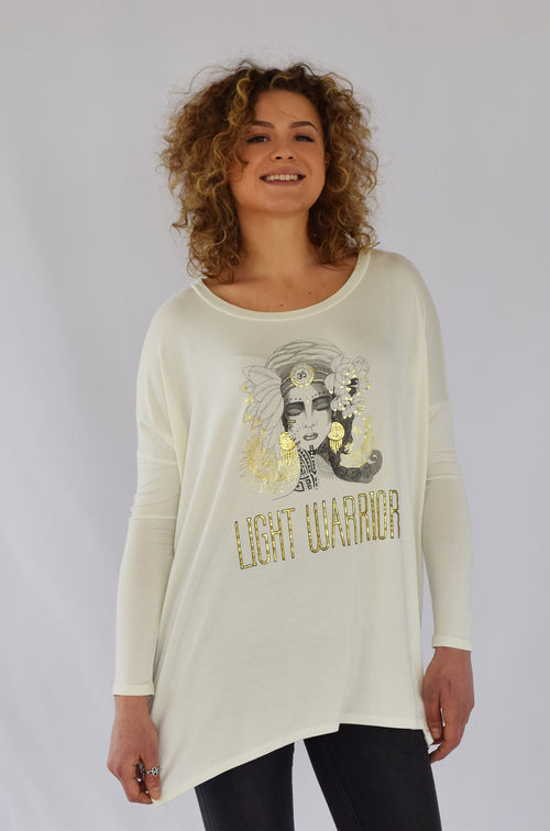 """Light Warrior""  Bamboo Ivory Top"