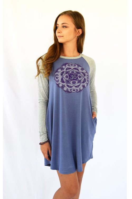 OM Mandala Bamboo Pocket Dress