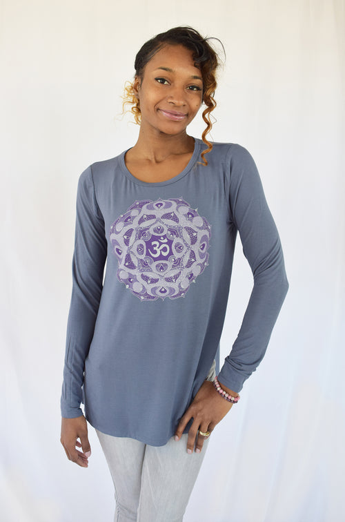 OM Mandala Super Soft Bamboo Top