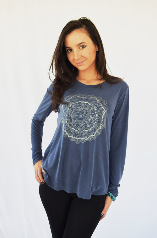 Luxurious Oriental Mandala Cutout Back Top