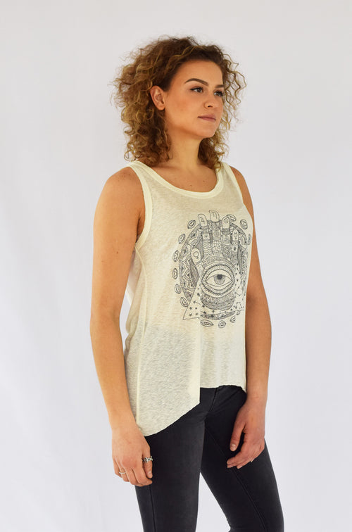 "Featherlight Silk ""Awareness Mandala"" Tank"