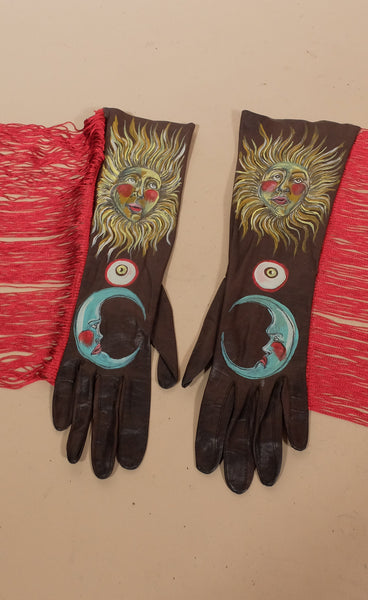 Sun & Moon Fringe Gloves