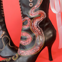 Inside Out Leather Boots