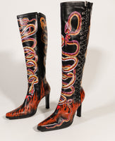 Whirling Snakes Corset Boots