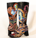 Loving You Rain Or Shine Snake Boots